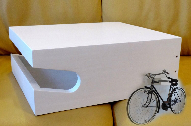 Mensola porta bici in legno a parete muro artigianale colore - Portabici in legno ...