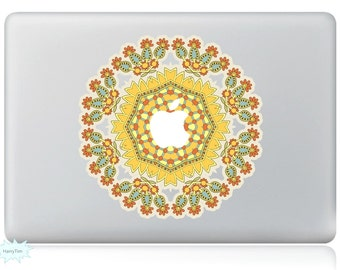 Yellow Flowers Decal Mac Stickers Macbook Decals Macbook Stickers Apple Decal Mac Decal Stickers Laptop Decal
