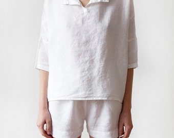 Luxury Linen Pajamas with shorts