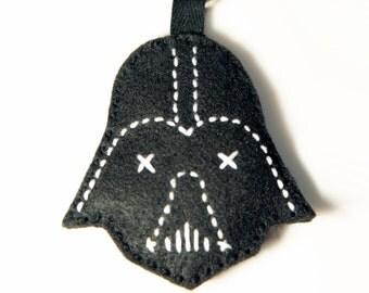 Star Wars inspired minimal Darth Vader keychain