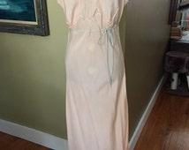1940's Peach Silk Nightgown