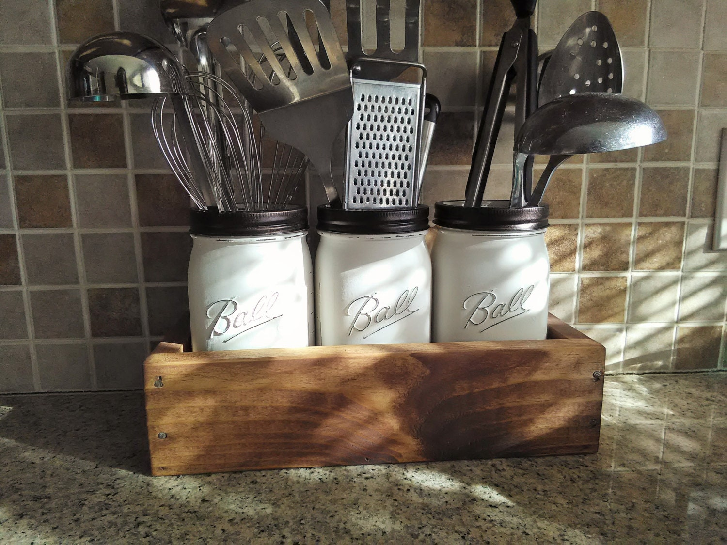 Kitchen Organization Mason Jar Kitchen By Countryhomeandheart