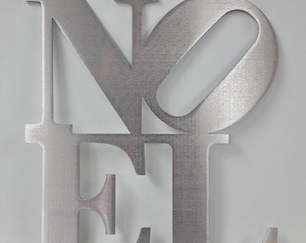 "12"" NOEL Christmas Metal Wall Decor Holiday Decoration- same as NY/ Philly Love Park Sculpture"