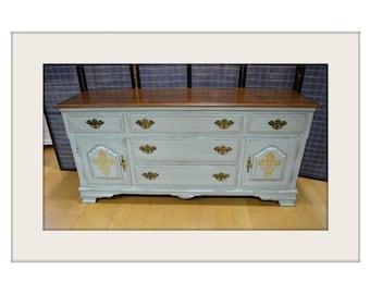 Vintage Heywood Wakefield Venetian Style Sideboard/Cabinet