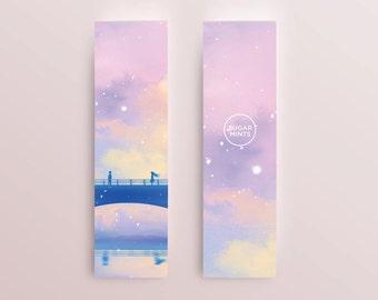 Romantic Anime Art Bookmark: Moment, Love Bookmark, Couple Bookmark, Romantic Bookmark