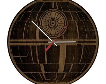 Original Star Wars Deathstar Artisan Laser Engraved Clock