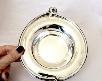 ON SALE Silver Dish / Small Silver Plated Trinket Catch all Jewelry Dish