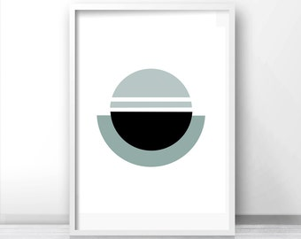 abstract wall art geometric print digital download art modern wall art print