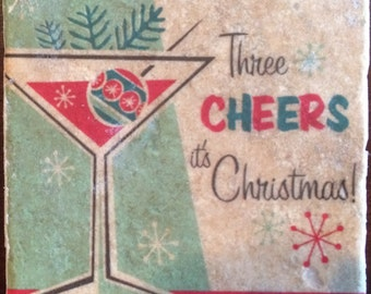 Three Cheers At Christmas Tile