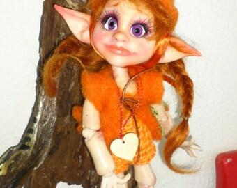 OOAK BJD Art Doll Fairy Elv Fennar