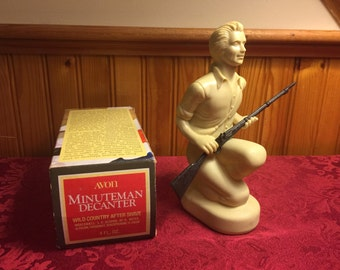 Avon Minuteman Decanter with box wild country aftershave bottle