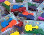 Guitar Crayon Party Favours - 15 x Twin Pack Rock Guitar Party Favours - Rock / Festival Themed Party - Party Favours - Music - Kids Crafts