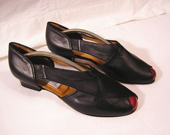 "70s Sandals ""Ladylike"" / Genuine full leather / Sonia Bettini Italy"