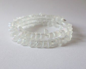 Frosted Crystal Scale Bracelet