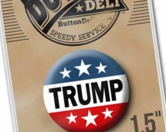 "1.5"" Donald Trump Button - Republican for President 2020 - Classic Ike Design"