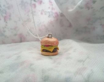 Burger Cheeseburger Hamburger necklace.