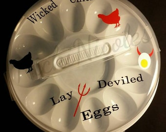 Wicked Chicken Lay Deviled Eggs Tray