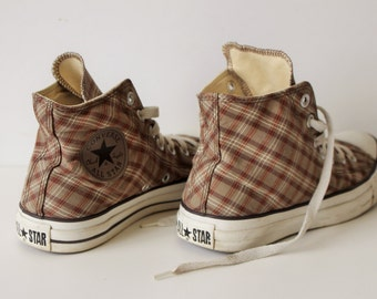 Vintage  CONVERSE Sneakers All Star Sneakers Checkered Lace up Shoes Size  EU 38/ Womens 7.5 /Mens 5.5/ Sneakers Trainers