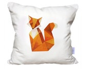 Looking for a Fox - Hand Painted Decorative Pillow - Throw pillow cover - Cushion