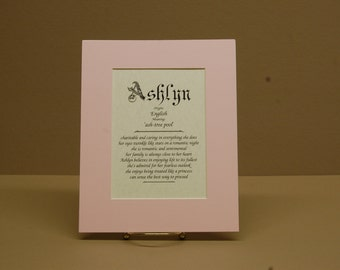 Name origin and meaning with pink mat