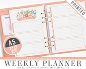 A5 Weekly Planner Inserts (PRINTED) - ROSA Collection - Kikki K Large Filofax A5 Sized Paper Planner - Hole Punch Optional - Cover Optional