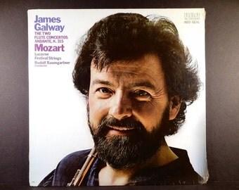 "Sealed James Galway Vinyl Record ""The Two flute Concertos"" Mozart / Rudolf Baumgartner Conductor / Lucerne Festival Strings /Classical Music"