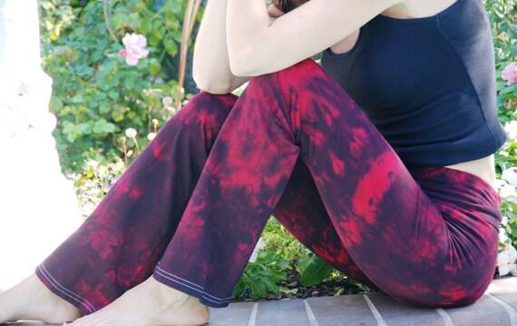Twilight Red Tie Dye Yoga Pants by Splash Dye Activewear