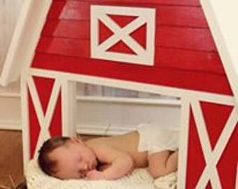 Wooden Red Barn Photo Prop
