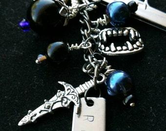 The Beast, BDB Rhage inspired charm zipper pull/ keychain