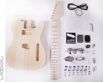 DIY Electric Guitar Kit - Tele Style Build Your Own Guitar