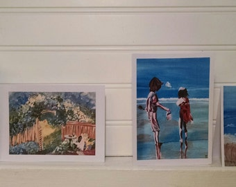 Greeting Cards: Country Mail, Me Time, PI Children, At the Beach