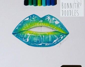 Custom Lip Drawing Medium