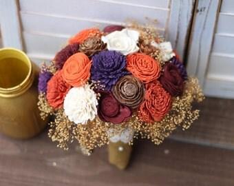 Fall wedding, fall bouquet, winter bouquet, Wedding bouquet, Sola bouquet, wedding bouquet, country bouquet
