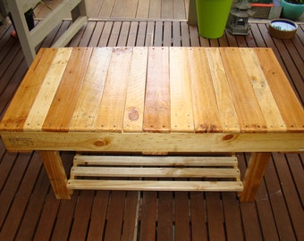 Winston Woodworks Wooden Pallet Coffee Table, Rectangular, Magazine Storage, Rustic, Garden Furniture, Reclaimed, Pallet Furniture