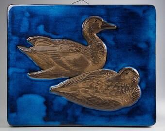 Aluminia / Royal Copenhagen - Leif Rydeng - Wall Plaque: Ducks