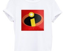 The Incredibles logo T-shirt for youth shirt and adults shirt men and women tshirt
