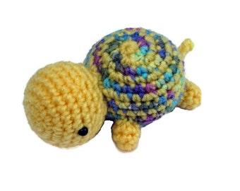 Crochet Turtle, amigurumi turtle, turtle plush, stuffed turtle, turtle toy