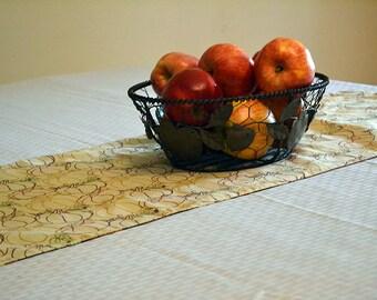 Fall Table Runner, Reversible Table Runner, Table Linen, Fall Decor, Buffet Runner, Kitchen Decor, Fall Kitchen Decor, Pumpkin Table Runner