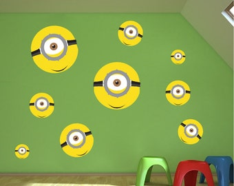 Minions Decal, Minions Wall Decals, b06