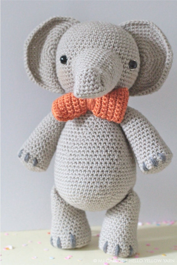 Amigurumi Yarn Ply : Crochet Amigurumi Elephant PATTERN ONLY, Professor Elbert ...
