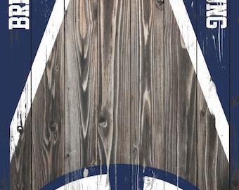 West Virginia Mountaineers Cornhole Board Wrap By