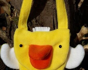 Duck Bag, Child's Bag, Fleecy Duck Bag