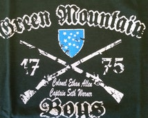 Green Mountain Boys - Crew Neck Sweatshirt - 1775 Vermont Clothing - 802 clothing - Ethan Allen - Seth Warren - Hood-less sweat shirt