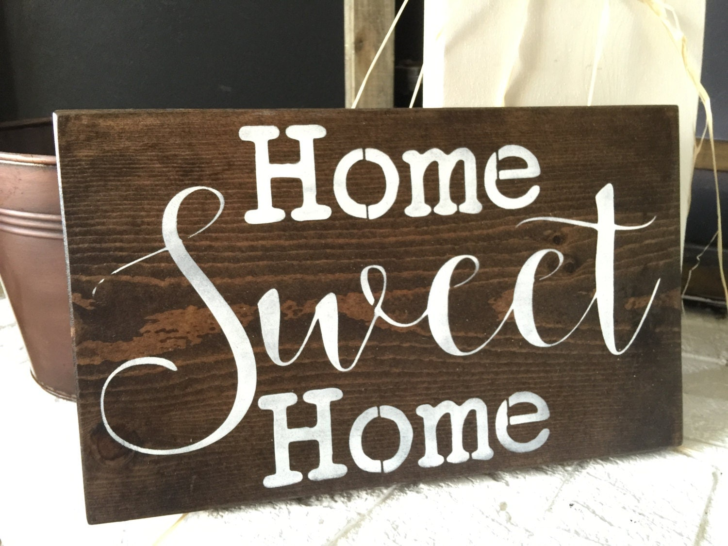 Home Sweet Home Sign Rustic Wall Hanging Rustic Home Decor