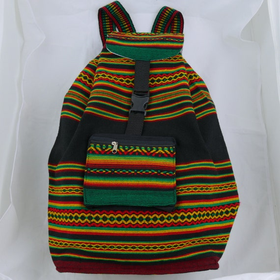 Rasta Backpack in Manta Fabric Great Capacity,  Strong and Light Weight Unisex
