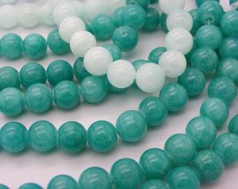 47 jade 8 mm Green turquoise beads