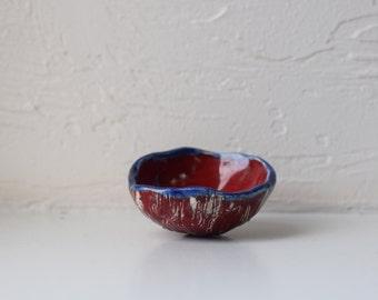 Handmade colorful ceramic bowl