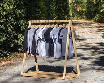 "Clothing Rack, 48"" High, Wood Clothing Rack, Closet Storage, Closet, Simple, Modern, Minimalist Design. Clothing Storage, Home Decor. SHORTY"