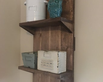 Two tier rustic shelf