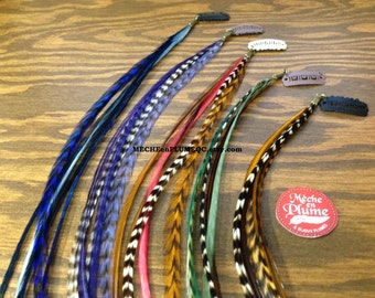 5 Feather extensions bonded  /Hair /Jewelry /Craft supply /25 feathers